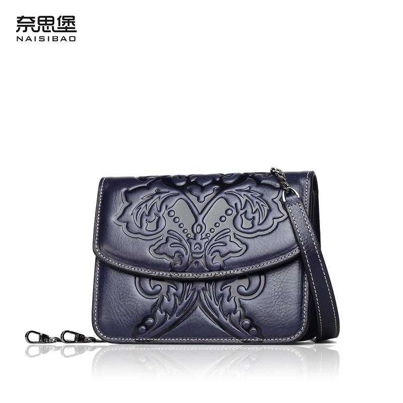 NAISIBAO women messenger bags 2018 luxury handbag shoulder bag genuine leather flap mini bag fashion crossbody designer handbags new women genuine leather handbags shoulder messenger bag fashion flap bags women first layer of leather crossbody bags