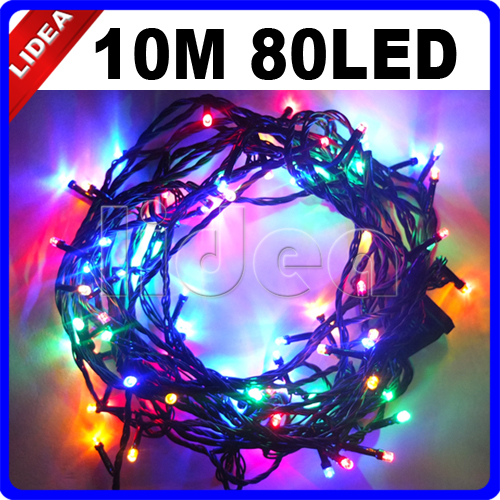 10M 80 LED Garden Wedding Party New Year Xmas Navidad Decoration Cord Outdoor Fairy String Light Garland LED Christmas CN C-18 30m 300 led 9 colors wedding garden new year xmas navidad garland led christmas decoration outdoor fairy string light cn c 33