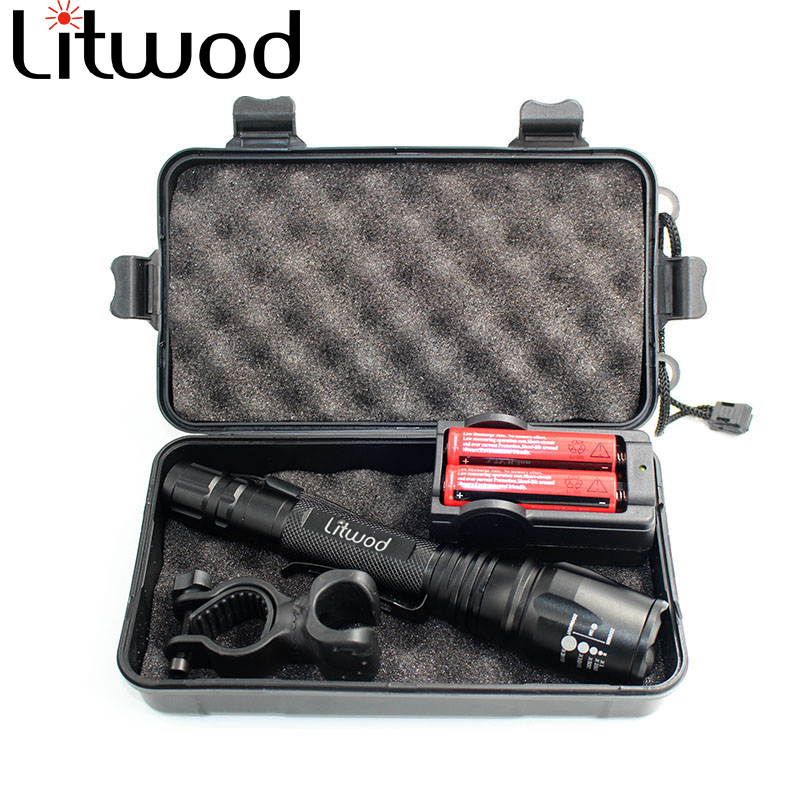 Z50 LED Flashlights CREE XM L T6 Zoomable Torch 5000 Lumen Led Torch Use 2x18650 Batteries