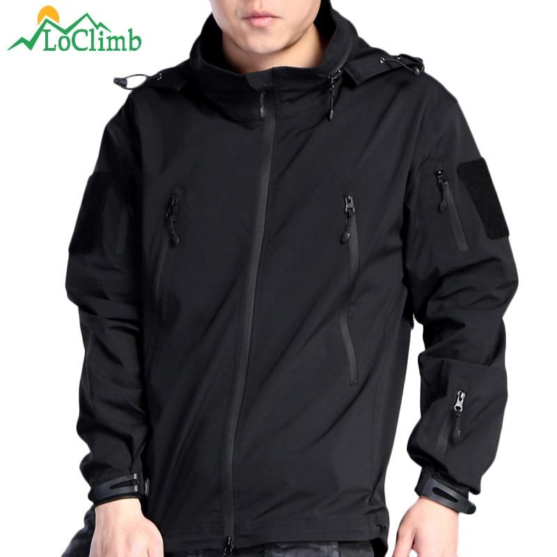 LoClimb Nylon Waterproof Tactical Hiking Jackets Men Army Military Trekking Climbing Coats Outdoor Hunting Sport Jacket,AM122 цена 2017
