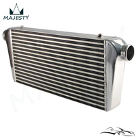 Aluminum Front Mount Turbo Intercooler 600*300*76mm In/outlet 2.5