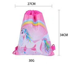 DHL240pcs единорог мультфильм дети рюкзак для мальчика подарок сумка для путешествий вечерние поставки мешок шнурок ткань нетканый плюшевый рюкзак