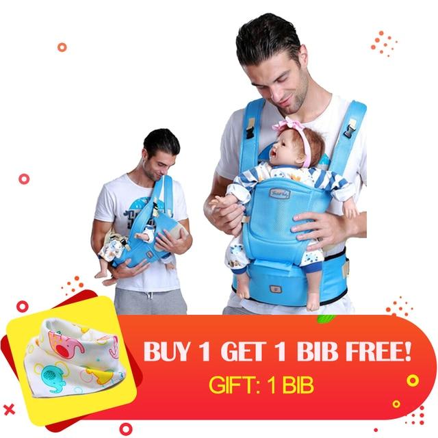 Ergonomique d été Porte-Bébé sling Respirant bébé kangourou siège pour  hanche hipseat dos 57280f3a1ec