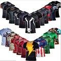 Homens de Compressão Armadura de Super-heróis da Marvel Comics Batman Avengers Captain America T-shirt