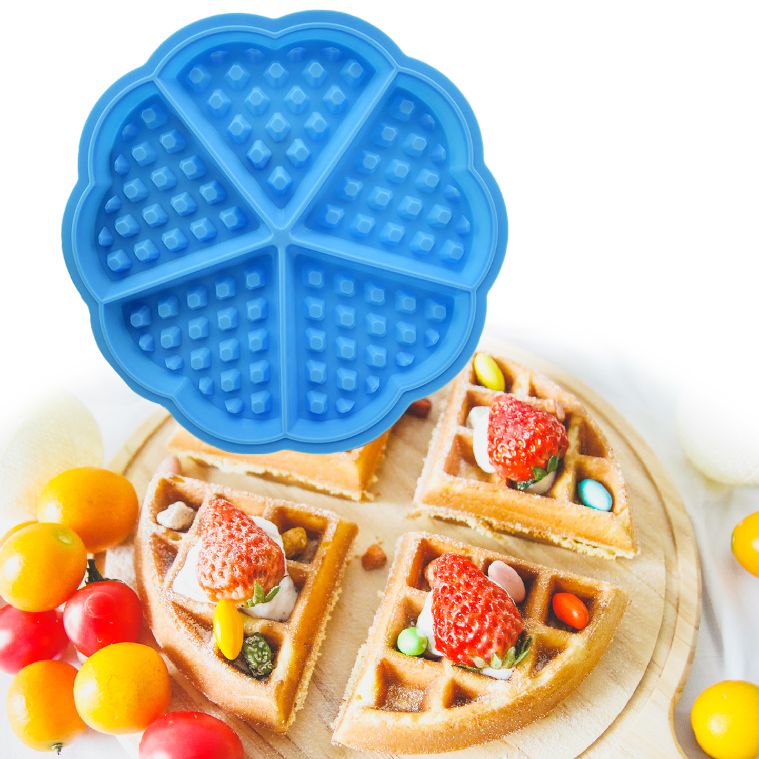 1 ST Fondant Mallen Hartvorm Wafel Siliconen Mal Zeep Chocolade Muffin Cake Stencils Keuken Gebak Bakken Siliconen Formulieren