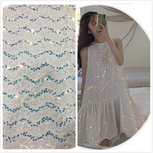 1yard Sequined fabrics for women's dresses evening dresses party performances sequined fabrics(China)
