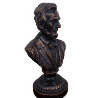 POTUS Bronze Colored Abraham Bust Figurine Statue United States of America Resin Sculptural Home Accessories R09