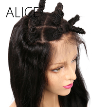 """ALICE Pre Plucked Silk Base Full Lace Human Hair Wigs With Baby Hair Body Wave 12-24"""" Remy Hair Brazilian Wigs For Black Women"""
