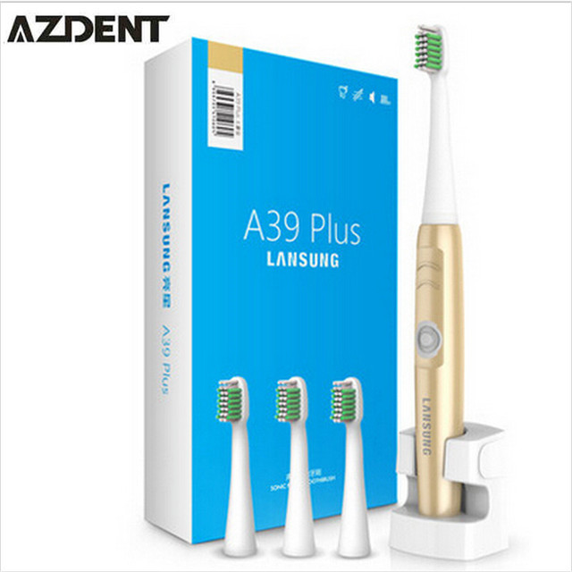 220V Gold A39Plus Wireless Charge Electric Toothbrush Ultrasonic Rotary Electric Tooth Brush Rechargeable Teeth Brush for Adult