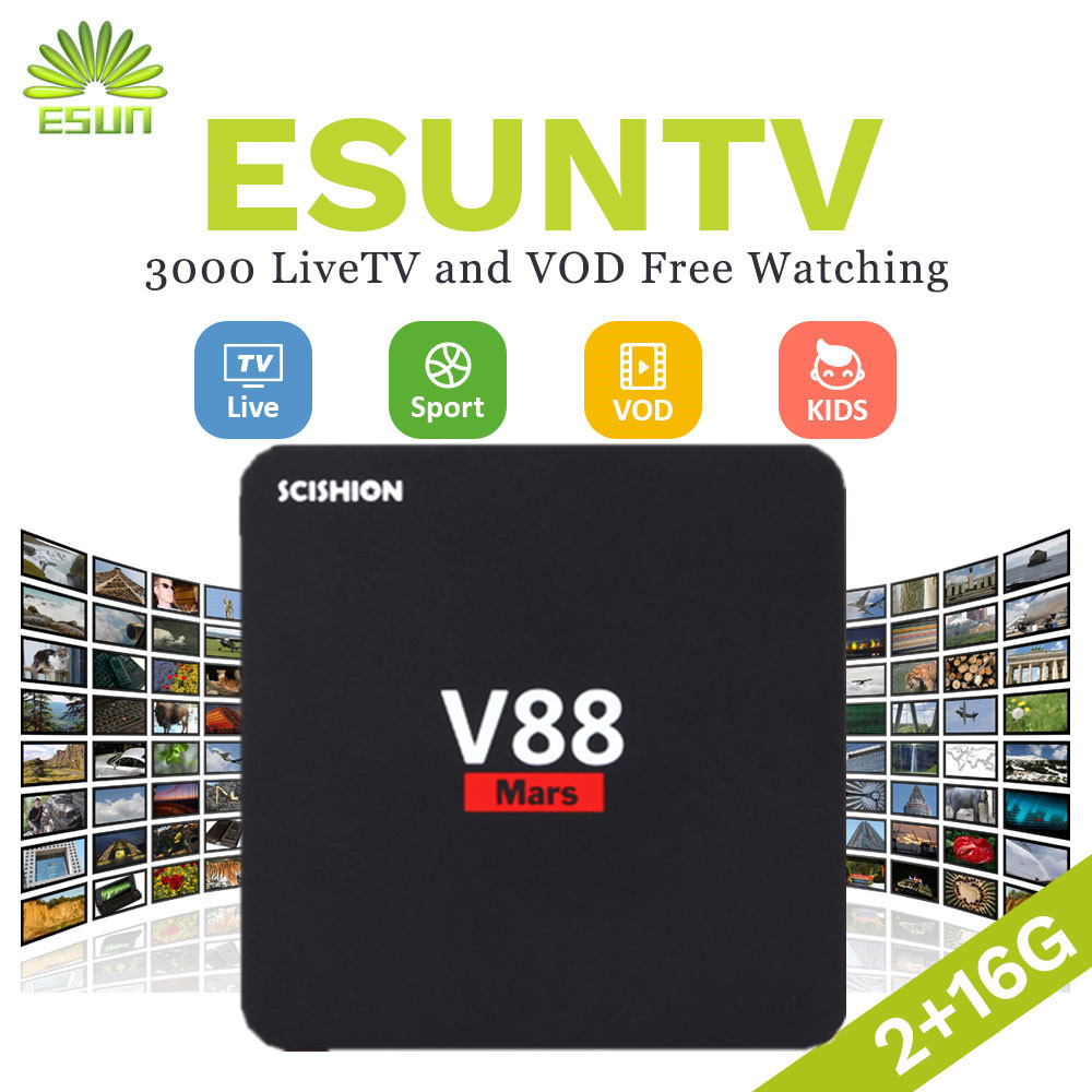 SCISHION V88 Mars Android 7.1 BOX with 1 year Spain/Portugal/US/UK/Germany/Sweden/Albania/XXX hotclub IPTV VOD set top box italy iptv a95x pro voice control with 1 year box 2g 16g italy iptv epg 4000 live vod configured europe albania ex yu xxx