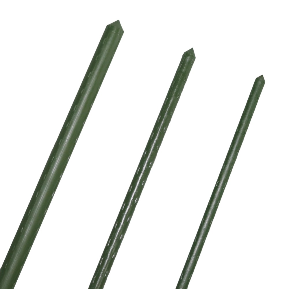 Plant Support Sturdy Stakes Plastic coated steel pipe Garden trellis Flower support Greenhouse Plant growth Supplies 8 Pcs