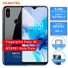 "OUKITEL C15 Pro 6.088"" 19:9 2GB 16GB Android 9.0 Mobile Phone MT6761 Quad-Core 2.0GHz 4G LTE Smartphone WiFi Water Drop Screen"