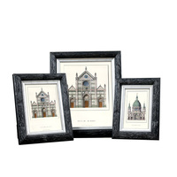 Mural Black Photos Frames European Style Wall Decoration Wooden Picture Frame Set Wall Hang Photo Frame Set Accessories XK0006