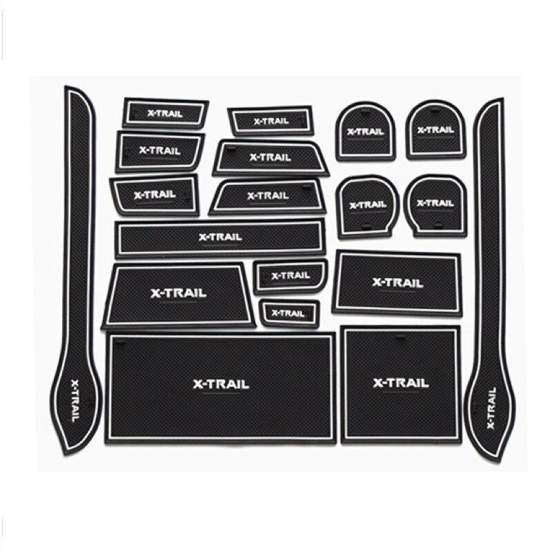For Nissan X-Trail T31 Anti Slip Door Groove Mat Gate Slot Pad Non-slip Cup Mats Sticker X Trail 2008 2009 2010 2011 2012 2013