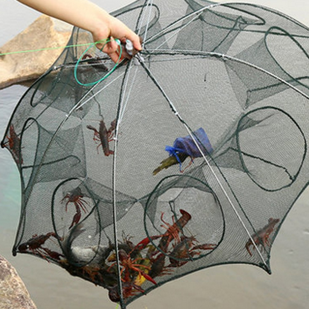 4/6/8/12 Fishing Net Trap Cast Dip Fishing Bait Cage Crawfish Shrimp Fishing Tool
