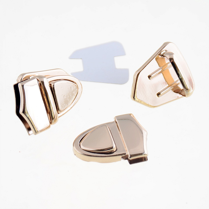Free Shipping-1Set Rose Golden Jewelry Wooden Case Boxes Bag Making Lock Latch Hardware 33x25mm F1401