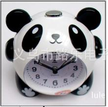 Creative lazybones alarm clock cartoon lovely panda With night lamp mute children music