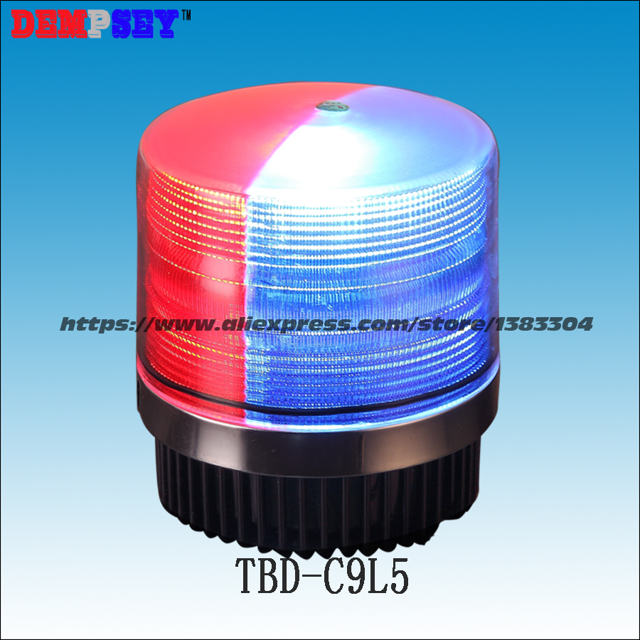 Dempsey HighPower Car Magnetic Mounted Vehicle For Police Warning Light Beacon/Strobe Emergency Lighting Lamp Red&Blue(TBD-C9L5) dempsey police strobe light led strobe lights emergency warning light for truck led strobe beacon with magnet red blue tbd c3l5