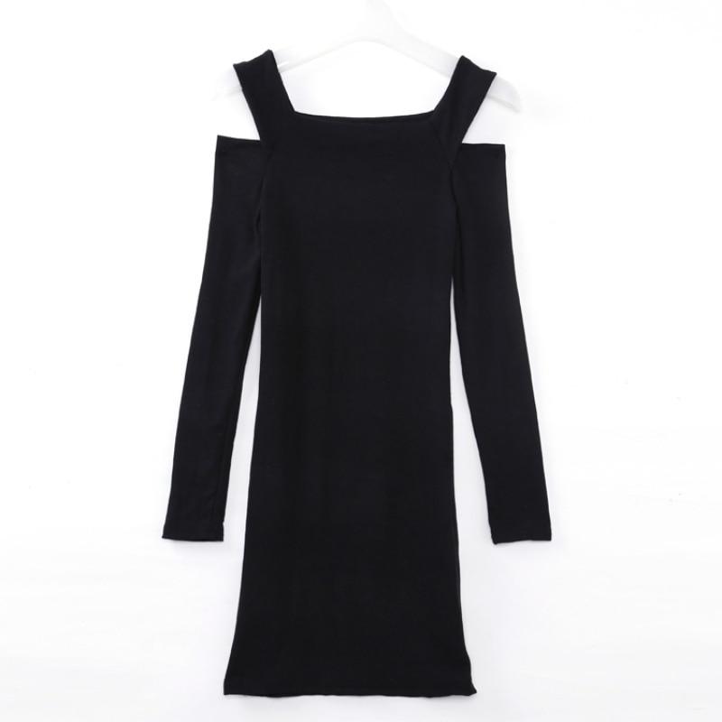 Women Sweater Solid Tracksuit for Women Sexy Mini Long Sleeve Slim Fit Off Shoulder Sweater Knitwear Bodycon Dress