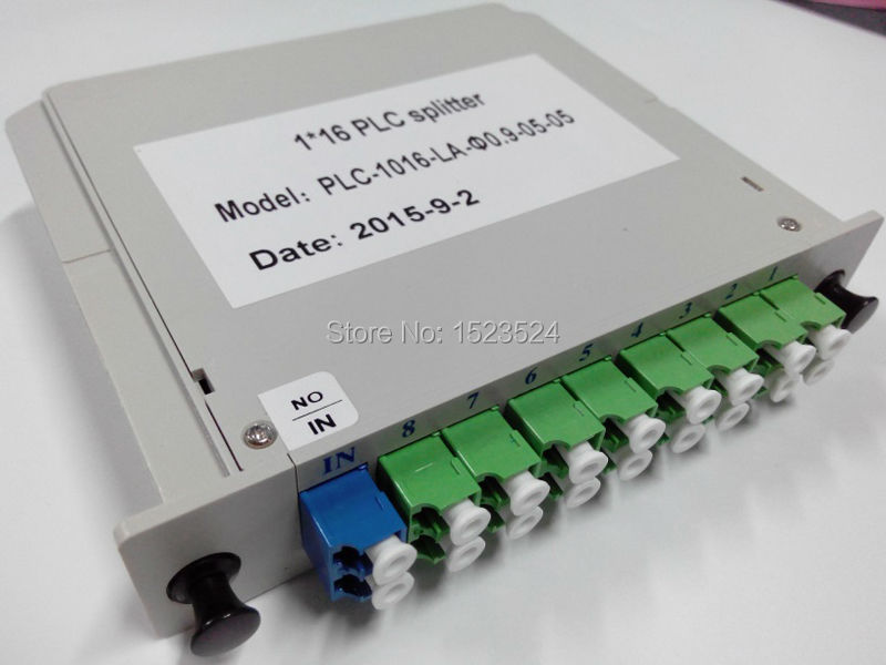 Free Shipping 1x16 Lgx Box Cassette Card Inserting Type 1:16 16 Ports LC/APC Fiber Optical PLC SplitterFree Shipping 1x16 Lgx Box Cassette Card Inserting Type 1:16 16 Ports LC/APC Fiber Optical PLC Splitter