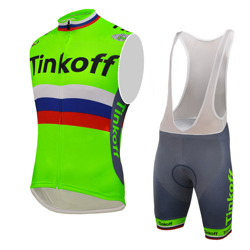 ФОТО 2016 Cycling jersey sleeveless sport wear ropa ciclismo hombre mtb bike bicycle clothes fluo green China maillot ciclismo vest