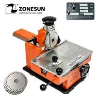 ZONESUN Manual Sheet Embosser Metal Stainless Steel Stamping Printer Dog Tag Embossing Nameplate Marking Equipment Labels Tools
