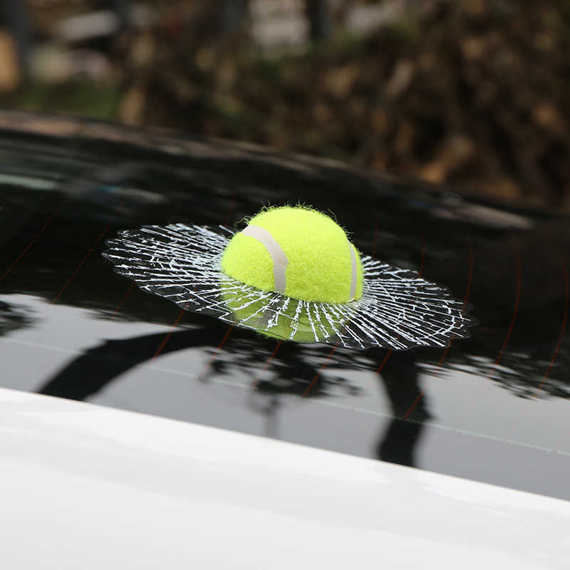Auto-styling 3D Auto Sticker Voetbal Basketbal Tennis Baseball Hit Venster Auto Accessoires Voor Achter Voorruit