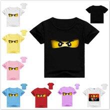 Boys Clothing T-Shirts Legoes Ninjago Tops Short-Sleeve Baby-Girl Cartoon-Pattern Cotton