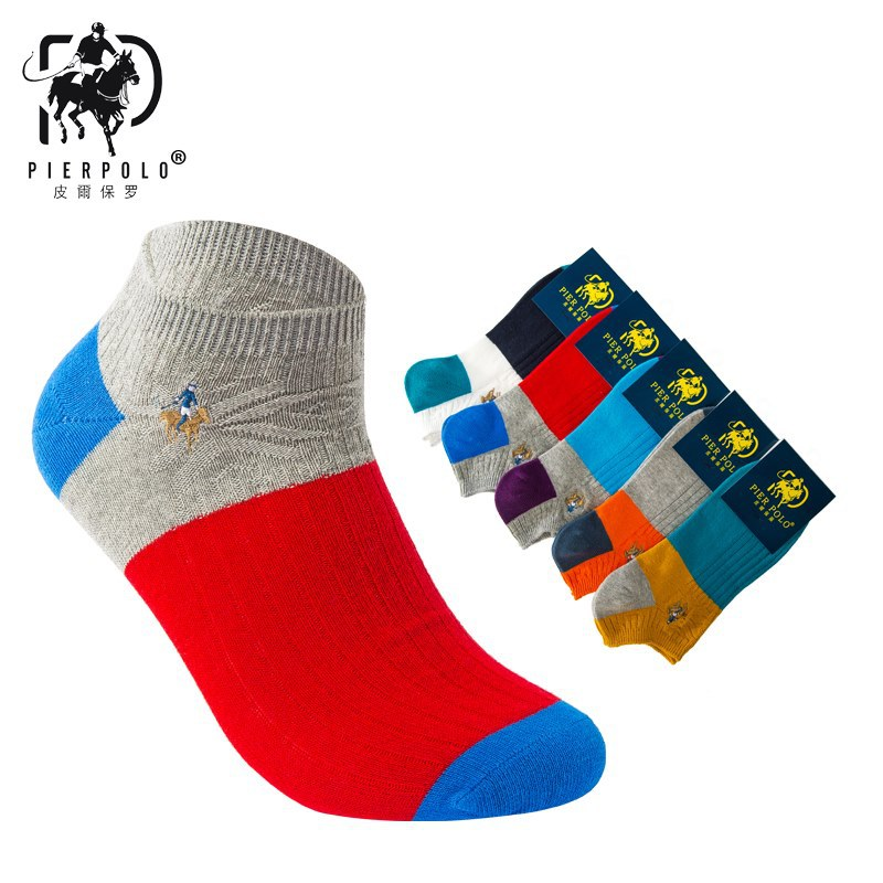 Fashion Brand Polo Men Socks Male Casual Colorful Short Ankle Socks For Man Cotton Business Socks 5Pairs/lot