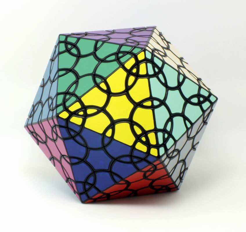 CubeStyle New Verypulzze Clover Icosahedron D1 Black Magic Cube Strange-shape Limited Edition Twisty Puzzle Educational Toys verrypuzzle clover dodecahedron magic cube speed twisty puzzle megaminx cubes game educational toys for kids children