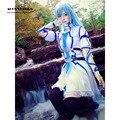 Free Shipping Sword Art Online Yuuki Asuna Cosplay Costume SAO Asuna Aqua Blue Women Halloween Costume