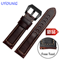 New arrival quality genuine leather watchband 22mm brown replacement leather wristband quick release for Samsung Gear S3