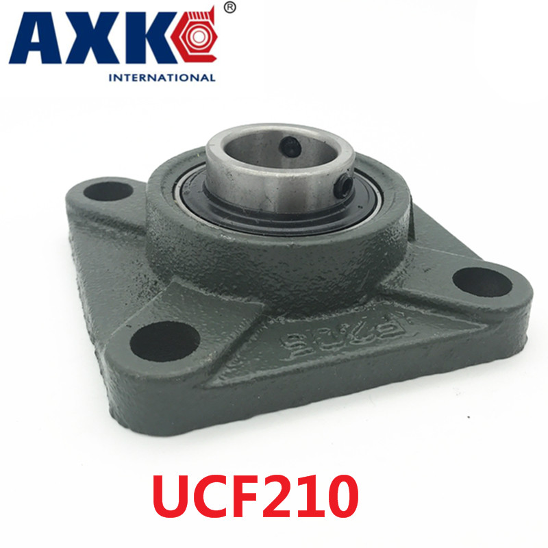 Axk Ucf210 50mm 4-bolt Square Flange Pillow Block Bearing With Housing tama ms612sh square head bolt m6x12mm