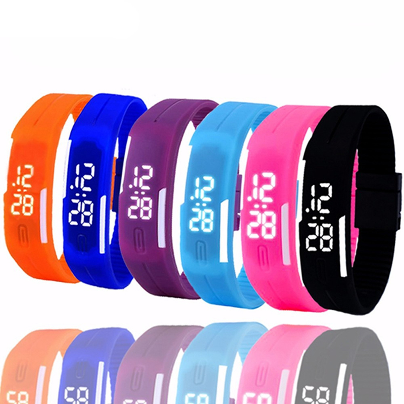 Women Sport Casual LED Watches Montre Femme Horloge Digital Fashion Clock Silicone Belt Girls Wrist Watch Reloj Mujer Relojes