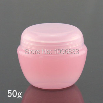 50g Pink Plastic Cosmetic Jar, Cream Bottle, Pink Mushroom Jar, Empty Cosmetic Container, Cosmetic Sample Bottle, 45PCS/Lot