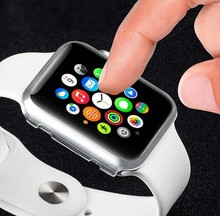 Transparent Case frame Cover For Apple 2 iWatch 38 /42mm
