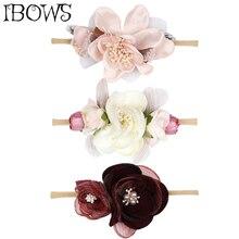 Flower Headband For Baby Girl Wedding Floral Hair Band Garland Ribbon Bow Girl Artificial Flower Headband Hair Accessories