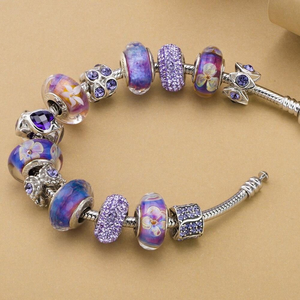 ATHENAIE Orijinal Murano Glass 925 Gümüşü Core Beş Ləçəkli - Moda zərgərlik - Fotoqrafiya 4