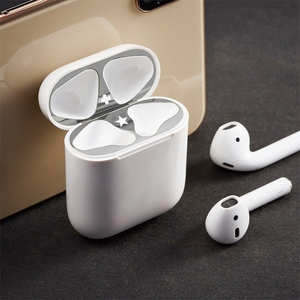 Image 2 - Metal Dust Guard for Apple AirPods Funda Case Accessories Protect Sticker Skin Protection For AirPods 1 2 Cute Pattern Sticker