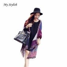 My Stylish Fashion Women's Large Tartan Scarf Shawl Stole Plaid Woollen Cloth Tassels Scarf 2016 Fashion New Vintage 1PCS Oct 24