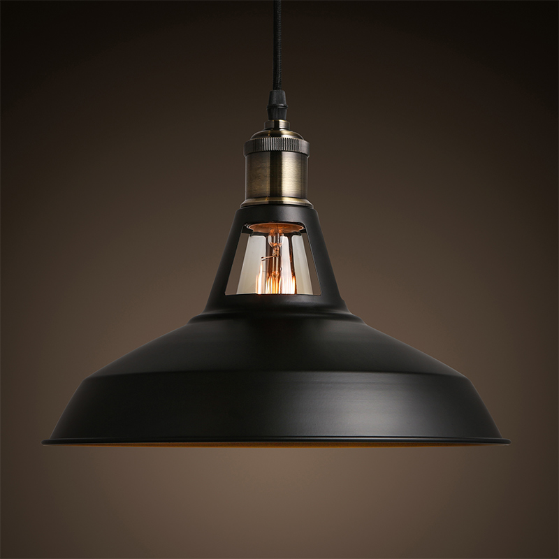 Light Bulb Industry: 2017 new Industrial retro style Art Pendant light black white Edison light  bulb American village lamps Hanging Lamps luminaries,Lighting