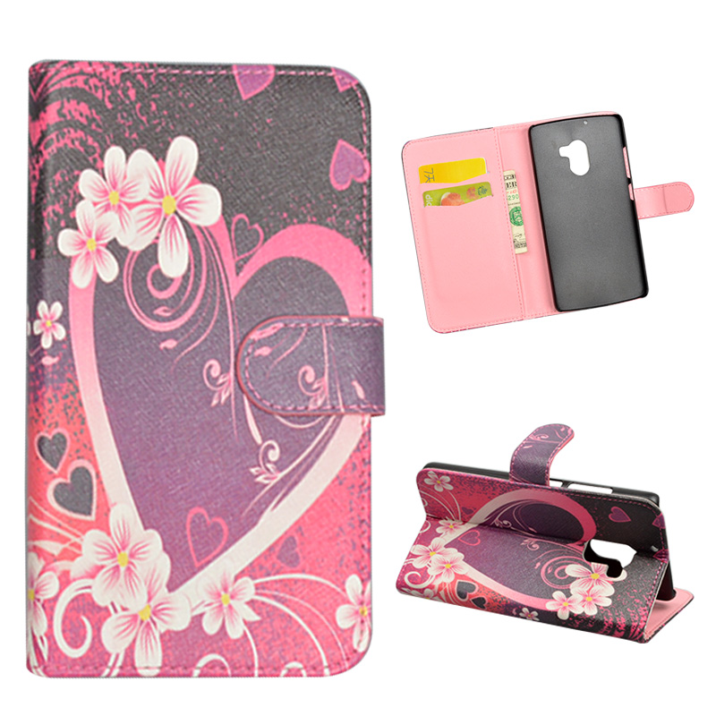 uk availability f2c8d 0df2b US $4.55 |New Popular Special Wallet Style Flip cover For Lenovo K4 Note  /X3 Lite / A7010 PU Leather case Brilliant Heart Printed covers-in Wallet  ...