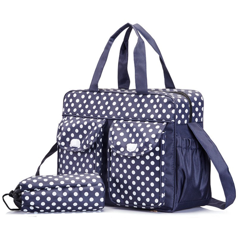 40299cm Dot Baby Changing Diaper Bag For Mom Messenger Multifunctional Maternity Nappy Bags Mother Milk Insulation Bags (2)