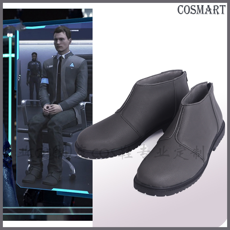 Hot Game Detroit Become Human Connor cosplay Shoes Incarnated As A Human Connor Shoes any size New 2018 freeship