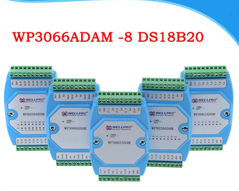 Module d'acquisition de température DS18B20 communication-WP3066ADAM MODBUS RS485 8 canaux
