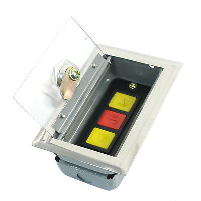 Up Down Stop 3 Button Roller Shutter Garage Door Switch