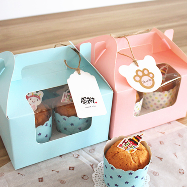 Free shipping bakery package muffin cake box pink blue 4 - Gardeners supply company coupon code ...
