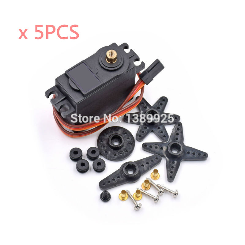 5PCS/LOT MG996R MG996 Metal Gear RC Servo High Speed & Torque RC CAR 1/8