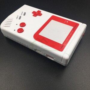 Image 3 - E evi Gameboy Klasik Beyaz Renk Yedek Konut Shell Kılıf Kapak GB Yağ Oyun Konsolu Kırmızı düğmeler