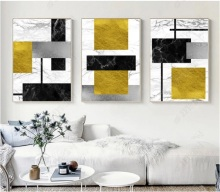 Modern Simple Abstract Geometric Color Block Canvas Print Modular Wall Paintings For Living Room Art Home Decor No Framed